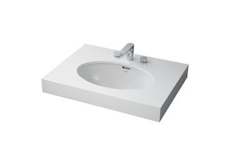 陶瓷面盆 防裂 白色 台下式洗脸盆(图中龙头另购)