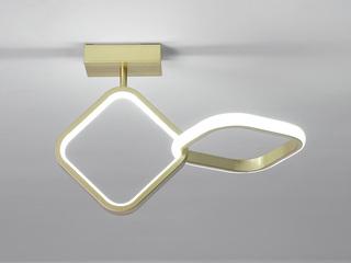 【包邮 偏远地区除外】 现代简约 LED光源 遥控三色调光正白光暖光中性光 金色菱形壁灯高低户通用(含光源)