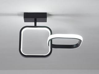 【包邮 偏远地区除外】 现代简约 LED光源 遥控三色调光正白光暖光中性光 黑色方形壁灯高低户通用(含光源)