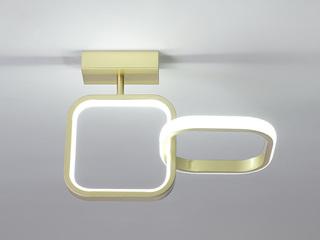 【包邮 偏远地区除外】 现代简约 LED光源 遥控三色调光正白光暖光中性光 金色方形壁灯高低户通用(含光源)