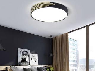 【包邮 偏远地区除外】 现代 铁艺+亚克力 圆形450 三色光 吸顶灯(含光源 LED24W)