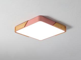 【包邮 偏远地区除外】 现代 铁艺+亚克力 粉色300*300 三色光 吸顶灯(含光源 LED20W)