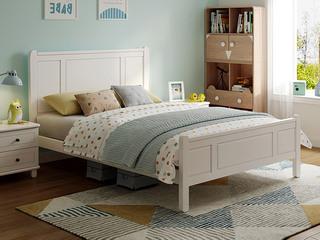 现代简约 直屏1.5米 实木 儿童板木床(含实木床排)