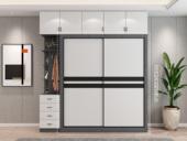 艺家 轻奢风格 经典黑白拼色推拉门 长1.8米 2开门衣柜