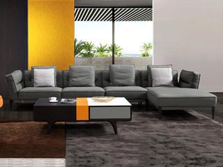 中式简约 真皮 实木 乳胶羽绒 舒适柔软 1+3+左贵妃转角沙发