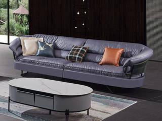 极简风格 高弹坐感 超柔科技布+乳胶+羽绒 实木框架 四人位