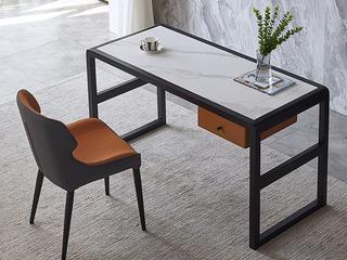 极简风格 意式进口岩板 白蜡木框架 耐磨防刮 长1.4米书桌