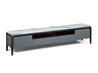 极简风格 逸江南亮光岩板台面 防刮耐磨质感细腻 进口白蜡木 电视柜