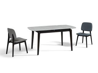 极简风格 进口白蜡木工艺 防刮耐磨亮光岩板 稳固承重 多功能伸缩餐台
