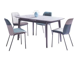极简风格 进口白蜡木工艺 防刮耐磨哑光岩板台面 质感细腻 多功能伸缩餐台