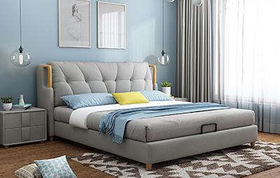 皮坊工藝 現代簡約風格 超透氣軟體床