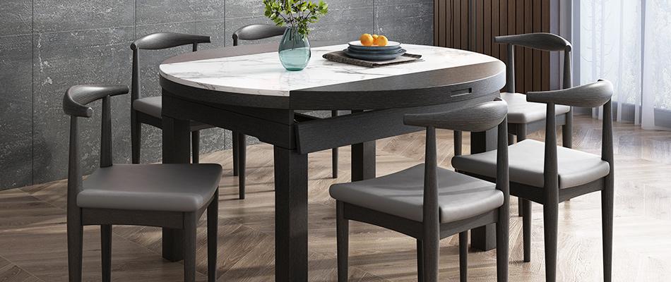 米勒 現代簡約 大理石餐桌